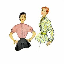 1950s Misses Shirt McCalls 9840 Vintage Sewing Pattern Size 14 Bust 32