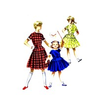1950s Girls Dress Blouse Skirt McCalls 3344 Vintage Sewing Pattern Size 12 Breast 30