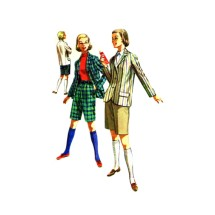 1950s Bermuda Shorts Jacket McCalls 3508 Vintage Sewing Pattern Size 20 Bust 38