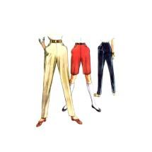 1950s Misses Frontier Pants Bermuda Shorts McCalls 3619 Vintage Sewing Pattern Waist 24 Hip 33