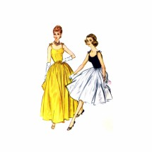 1950s Evening Cocktail Dress McCalls 5200 Vintage Sewing Pattern Size 12 Bust 32