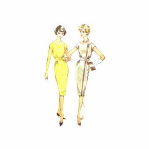 1950s Scoop Neck Sheath Dress McCalls 5279 Vintage Sewing Pattern Size 14 Bust 34