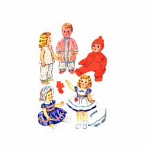 1960s Tiny Tears Baby Toodles Walking Toodles Sweet Sue Dydee Betsy Wetsy Doll Wardrobe McCalls 2412 Vintage Sewing Pattern