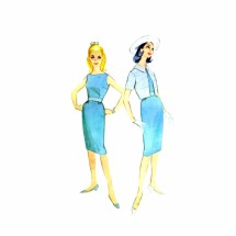 1960s Sheath Dress Bolero Jacket McCalls 5451 Vintage Sewing Pattern Size 11 Bust 31 1/2
