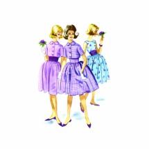 1960s Full Skirt Dress Jacket Cummerbund McCalls 5825 Vintage Sewing Pattern Size 14 Bust 33