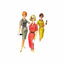 1960s Misses Sheath Dress McCalls 6081 Vintage Sewing Pattern Size 12 Bust 32
