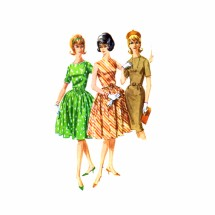 1960s Sheath or Full Skirt Dress McCalls 6146 Vintage Sewing Pattern Size 16 Bust 36