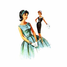1960s Sheath or Full Skirt Dress McCalls 6356 Vintage Sewing Pattern Size 16 Bust 36