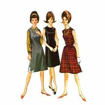 1960s Dress Jumper Blouse McCalls 6959 Vintage Sewing Pattern Size 13 Bust 33