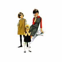 1960s Girls Dress Jumper Blouse Helen Lee McCalls 6971 Vintage Sewing Pattern Size 10 Breast 28