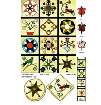 Pennsylvania Hex Motifs for Felt or Fabric Appliques Crewel Embroidery for Pillows 1960s McCalls 7034 Vintage Sewing Pattern