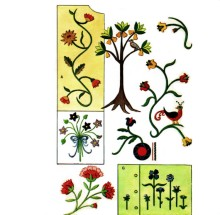 Motifs for Felt Appliques or Crewel Embroidery for Pillows 1960s McCalls 7312 Vintage Sewing Pattern