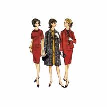 1960s Misses Skirt Blouse Coat Jacket McCalls 7418 Vintage Sewing Pattern Size 16 1/2 Bust 37