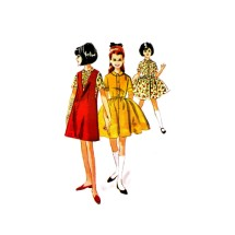 1960s Girls Dress and Jumper McCalls 7463 Vintage Sewing Pattern Size 8