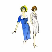 1960s Misses Shift Dress McCalls 7723 Vintage Sewing Pattern Size 10 Bust 31