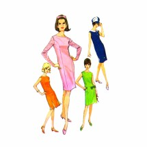 1960s Misses Dress in Six Versions McCalls 8263 Vintage Sewing Pattern Size 12 Bust 32