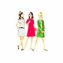 1960s McCalls 8680 Princess Seam Dress Vintage Sewing Pattern Size 13 Bust 33