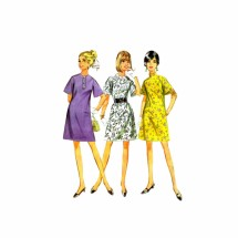 1960s Bell Sleeve Aline Dress McCalls 9242 Vintage Sewing Pattern Size 10 Bust 32 1/2