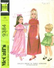 McCall's 9384 High Waisted Dress Size 3