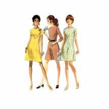 1960s Misses Aline Dress McCalls 2135 Vintage Sewing Pattern Size 10 1/2 Bust 33
