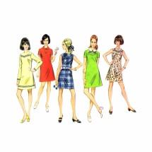 1960s Misses Front Yoke Dress McCalls 9617 Vintage Sewing Pattern Size 12 Bust 34