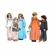 1970s Girls Dress Smock Pants McCalls 3425 Vintage Sewing Pattern Size 1