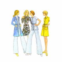 1970s Misses Coat Dress Top Pants McCalls 3482 Vintage Sewing Pattern Size 12 Bust 34