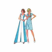 1970s Sweetheart Neck Dress McCalls 3680 Vintage Sewing Pattern Size 10 Bust 32 1/2