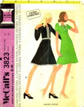 Vintage 1970's Misses Dress Size 12 - Bust 34 McCall's 3823 Sewing Pattern