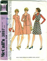 McCall's 3897 Misses Half Size Dress Jumper & Jacket Size 22 1/2