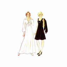 1970s Misses Princess Seam Dress and Jacket McCalls 3923 Vintage Sewing Pattern Size 10 Bust 32 1/2