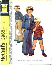 McCall's 3965 Shirt-Jacket Shirt Pants Size 5