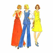 1970s Misses Dress Top Pants McCalls 4025 Vintage Sewing Pattern Size 12 Bust 34