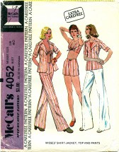 McCall's 4052 Shirt-Jacket Top Pants Size 18