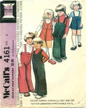 McCall's 4161 Jumper Overalls Vest Top Size 6