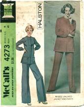McCall's 4273 HALSTON Jacket Pants Suit Size 18