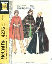 McCall's 4276 Long or Short Capes Size 14 - 16