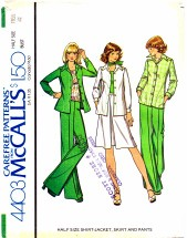 McCall's 4403 Shirt-Jacket Skirt Pants Size 18 1/2 - Bust 41