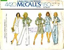 McCall's 4420 Shirt-Jacket Vest Skirt Pants Size 18 1/2  - Bust 41