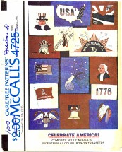 McCall's 4725 Bicentennial Color Iron-On Transfers