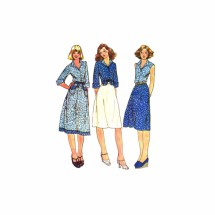 1970s Misses Shirt and Skirt McCalls 5043 Vintage Sewing Pattern Size 12 Bust 34