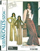 McCall's 5204 MARLO'S CORNER Jacket & Jumpsuit Size 10