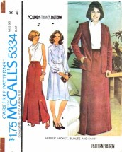 McCall's 5334 Jacket Blouse Skirt Size 18 - Bust 40