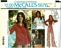 McCall's 5676 MARLO'S CORNER Blouse & Pants Size 12