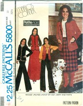McCall's 5800 MARLO'S CORNER Jacket Vest Skirt Pants Size 10