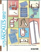 McCall's 5812 Crafts Set of Accessories Red Iron-On Alphabet Transfer