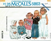 McCall's 5863 Toddlers Dress Top Hat Size 4