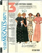 McCall's 5871 Sleeveless Long Dress Size 10 - Bust 32 1/2