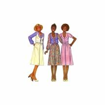 1970s Misses Blouse Skirt Vest Annie Too McCalls 5978 Vintage Sewing Pattern Size 10 Bust 32 1/2