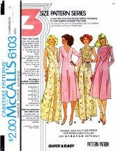 McCall's 6103 Evening Dress & Removable Collar Bust 43 - 47